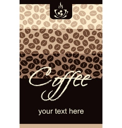 Template Coffee shop menu vector image vector image