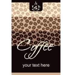 Template Coffee shop menu vector image