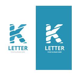 unique letter k logo design template vector image vector image