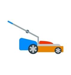 Gardening lawn mower groundworks tool machine vector image