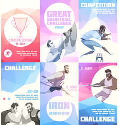 sporting competition flyers collection vector image vector image