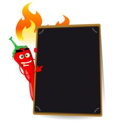 cartoon hot spice menu vector image