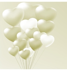 Elegant balloons heart valentines day EPS 8 vector image vector image