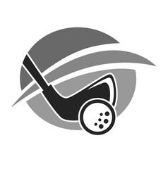 Golf club or golfer country sport team icon vector