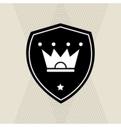 Graphic design of Crown vector image