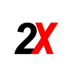 2x sign icon vector image