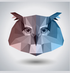 Abstract polygonal tirangle animal owl hipster vector