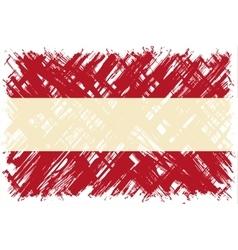 Austrian grunge flag vector image