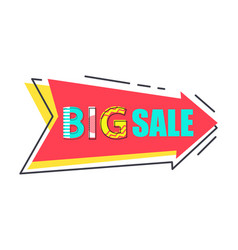 big sale best price tag flat style with super cost vector image
