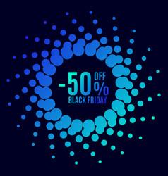 black friday sale halftone dots vector image