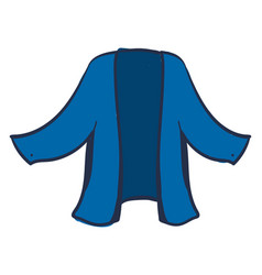 blue sweater on white background vector image
