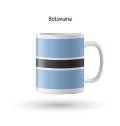 Botswana flag souvenir mug on white background vector image