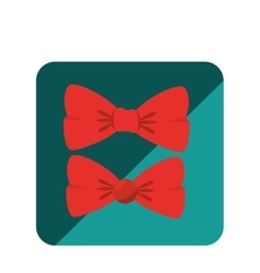 Bowtie hipster style icon vector