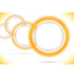 Bright colored rings form a perspective vector image