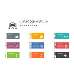 Car service infographic 10 option line concept vector