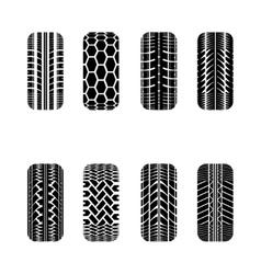 Cars tire tracks vector