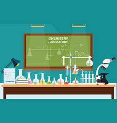 chemical laboratory science lesson vector image