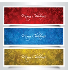 Christmas banners 1909 vector