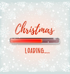christmas loading abstract red design vector image