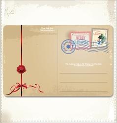 Christmas Vintage Postcard vector
