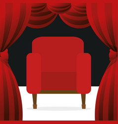 Cinema chairs entertainment icon vector