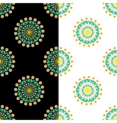 circular seamless floral pattern vector image