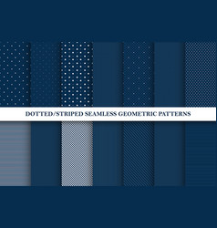 collection seamless patterns - dotted vector image