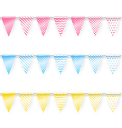 colored garlands vector image