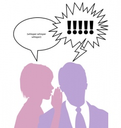 couple whispering secrets vector image