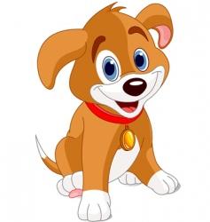 Cute puppy vector