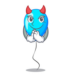 Devil party balloon blue mascot the isolated vector