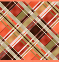 diagonal tartan seamless texture mainly in brown vector image
