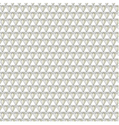 Diamond jewels background pattern on white vector