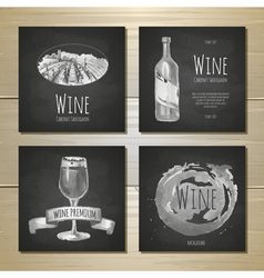 Et of art wine banners and labels design vector