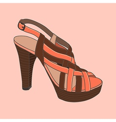 fashion shoes peach vector image