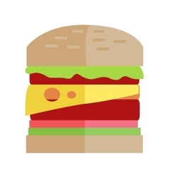 Fast Food Hamburger Concept in Flat Design vector image