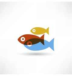 Fish eco Icon vector