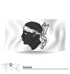 Flag corsica vector