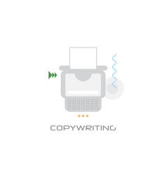 freelance occupation copywriting concept content vector image
