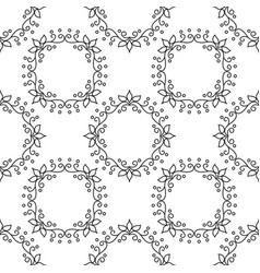geometrical pattern flower vector image