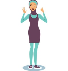 girl wearing burqini vector image
