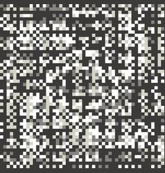 glitch pixel style flat seamless pattern vector image
