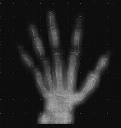 Grayscale abstract hand tomography vector