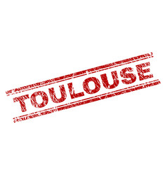 Grunge textured toulouse stamp seal vector