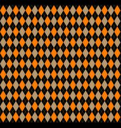 halloween argyle plaid scottish cage background vector image
