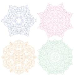 Hand-drawn christmas lace frame mandala vector