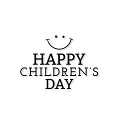 happy children day vector image