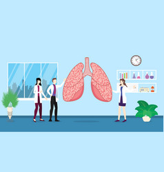 human lungs health care checkup analysis vector image