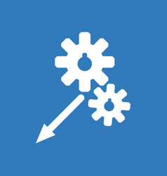 icon two gears vector image vector image