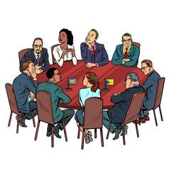 International negotiations diplomats vector
